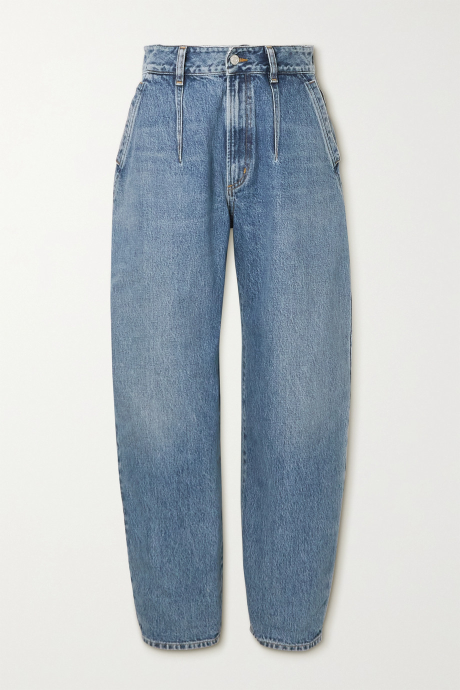 AGOLDE + NET SUSTAIN Balloon organic high-rise straight-leg jeans