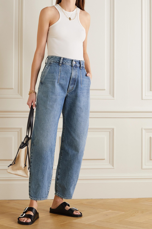 AGOLDE + NET SUSTAIN Balloon organic high-rise straight-leg jeans