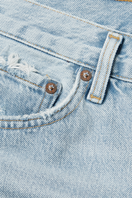 AGOLDE + NET SUSTAIN Long Parker Jeansshorts aus Bio-Denim in Distressed-Optik