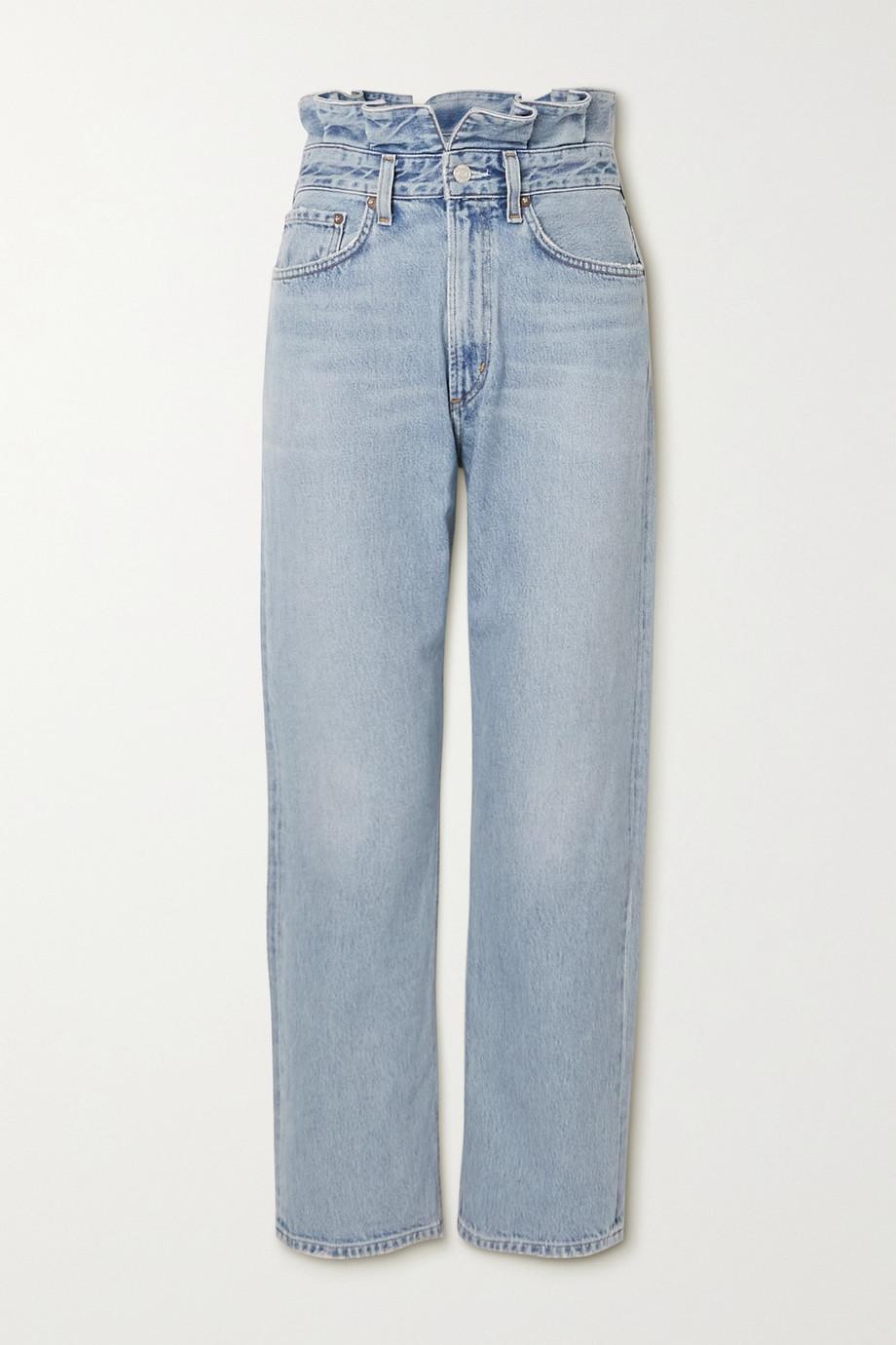 AGOLDE + NET SUSTAIN hoch sitzende Jeans mit geradem Bein aus Bio-Denim