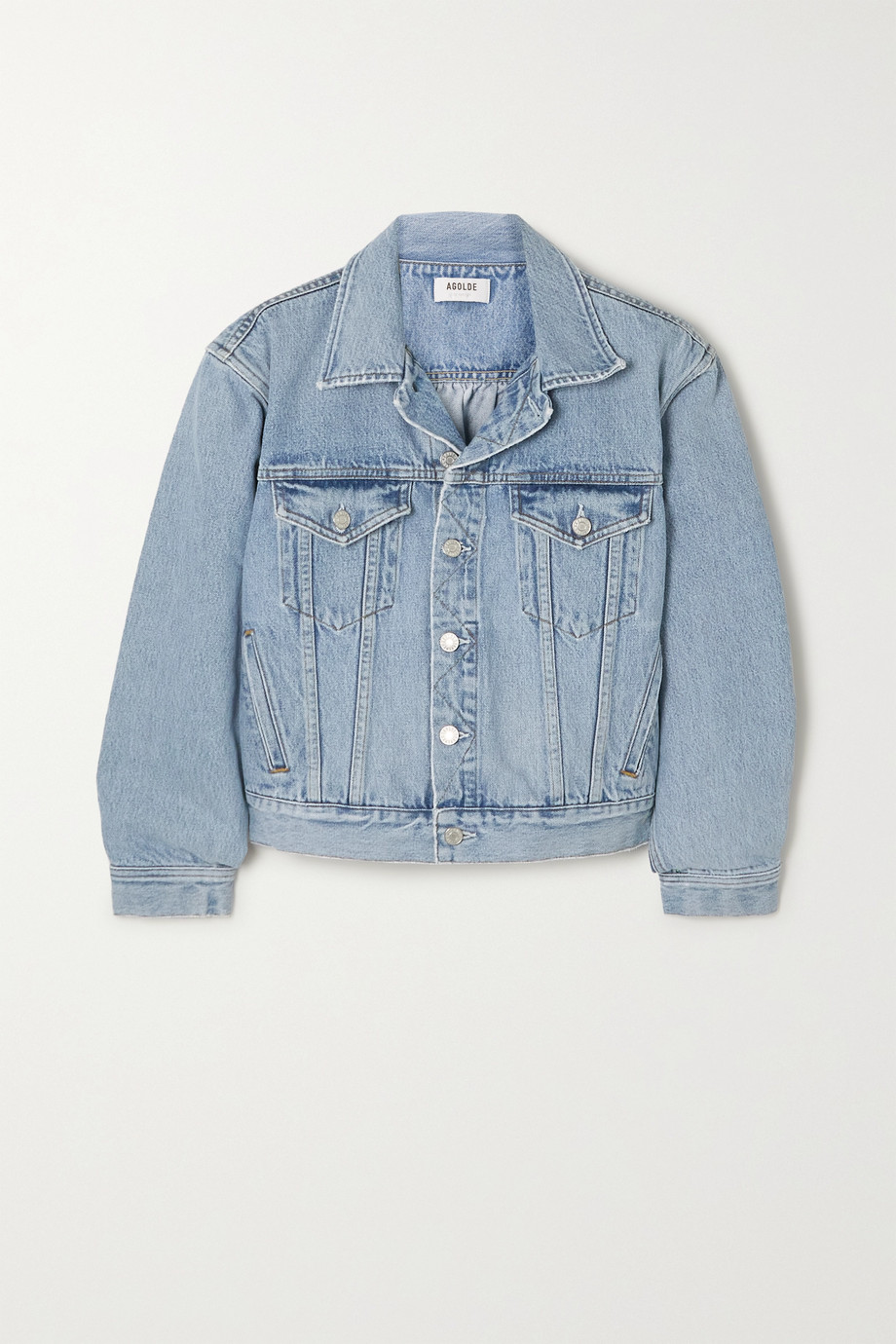 AGOLDE + NET SUSTAIN Blanca gathered organic denim jacket