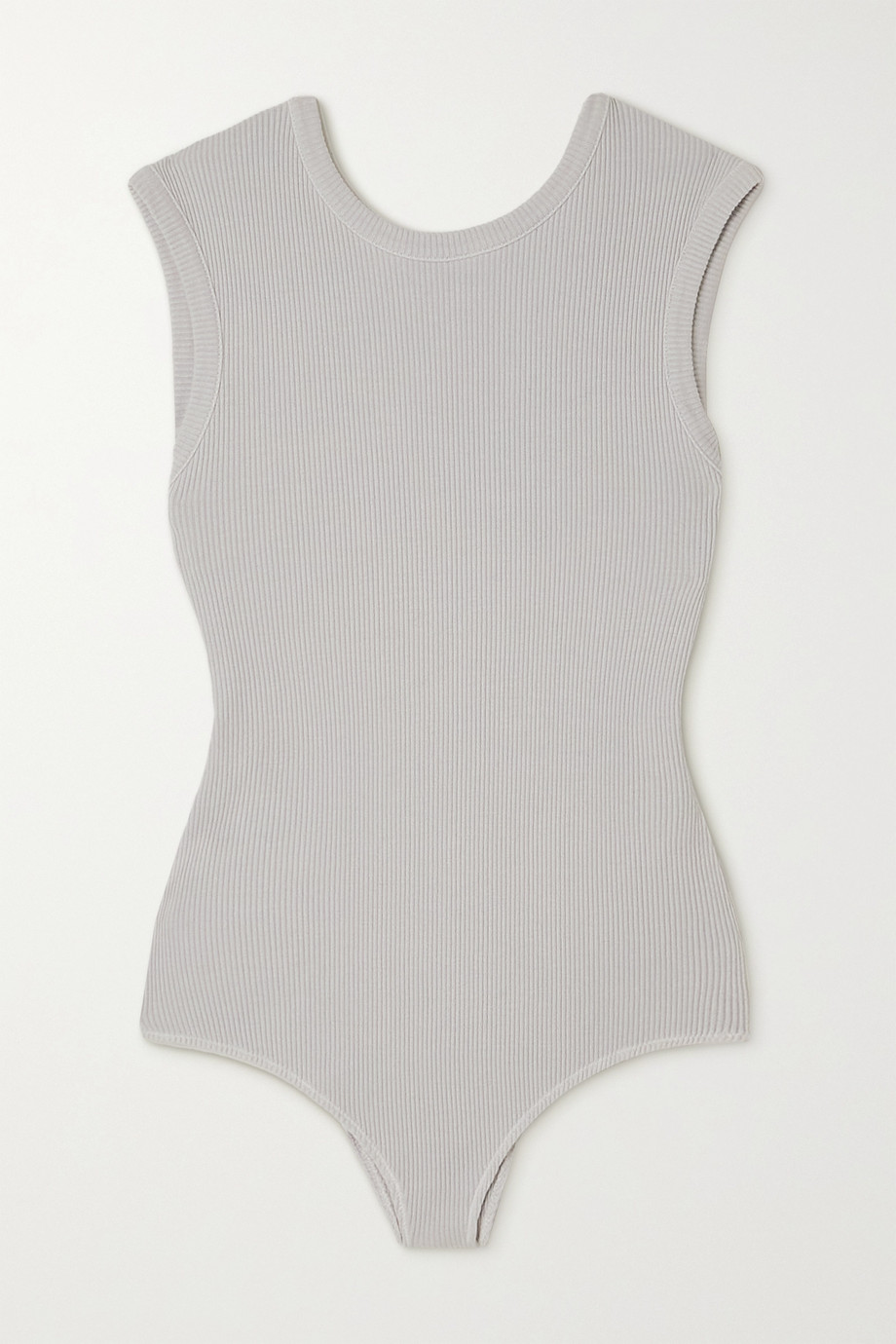 AGOLDE + NET SUSTAIN Sutton ribbed organic cotton bodysuit