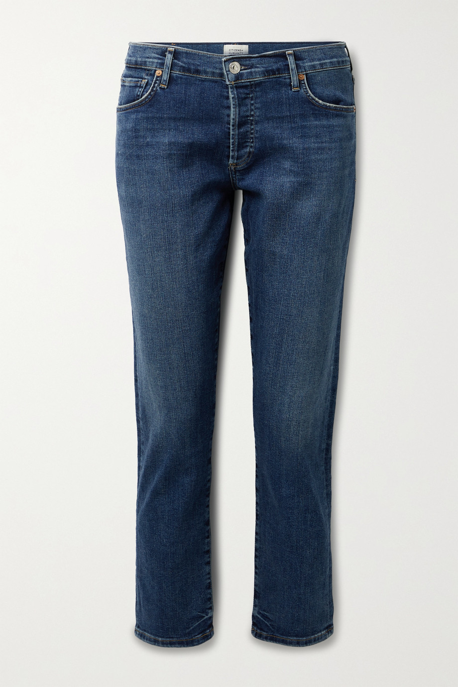 Citizens of Humanity Emerson distressed mid-rise straight-leg jeans