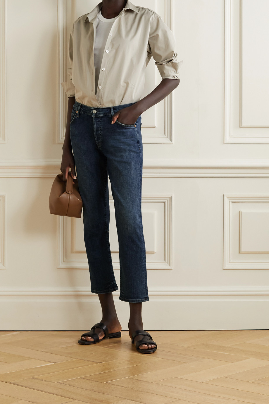 Citizens of Humanity Emerson halbhohe Jeans mit geradem Bein und Distressed-Details