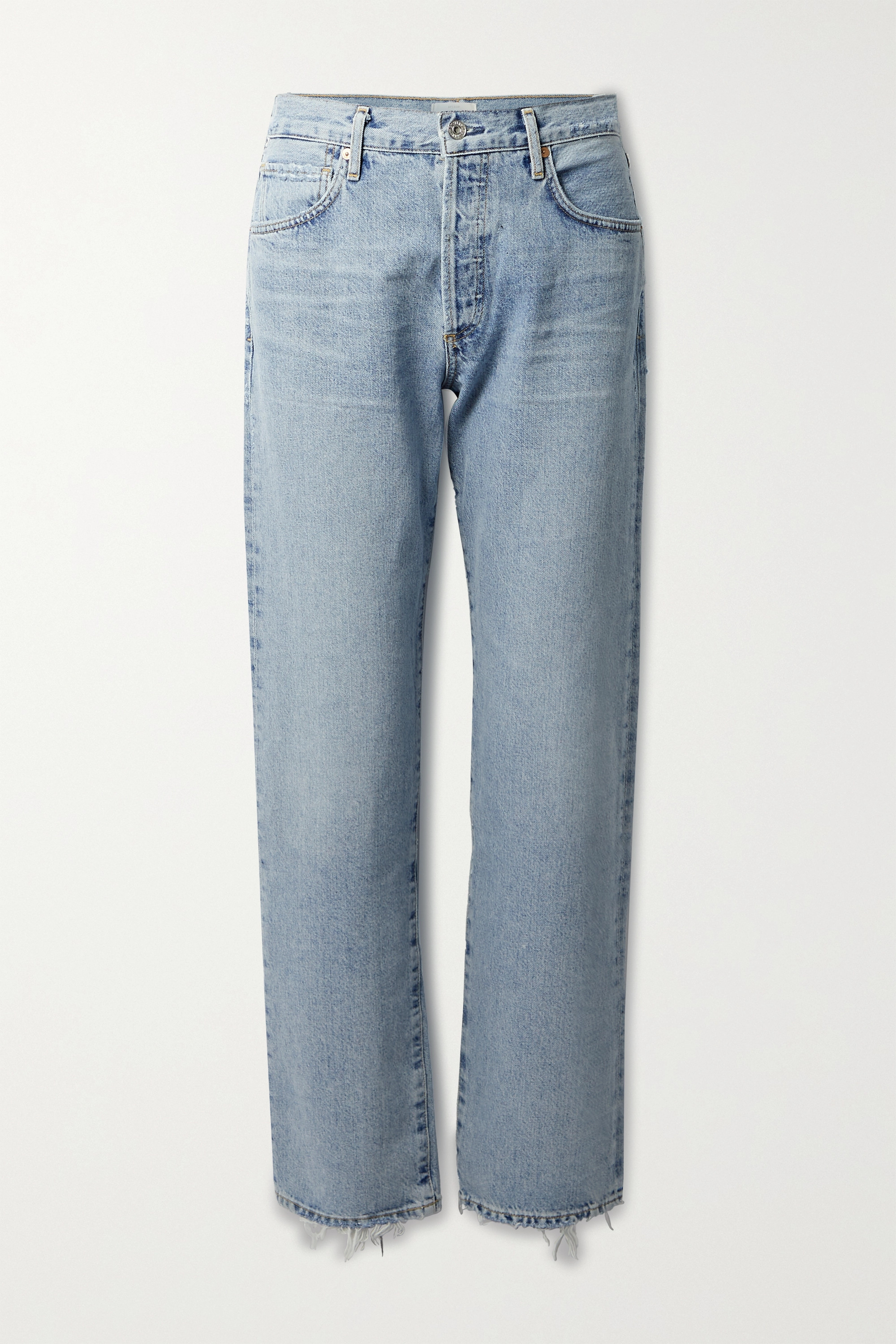 Citizens of Humanity Emery distressed high-rise straight-leg jeans