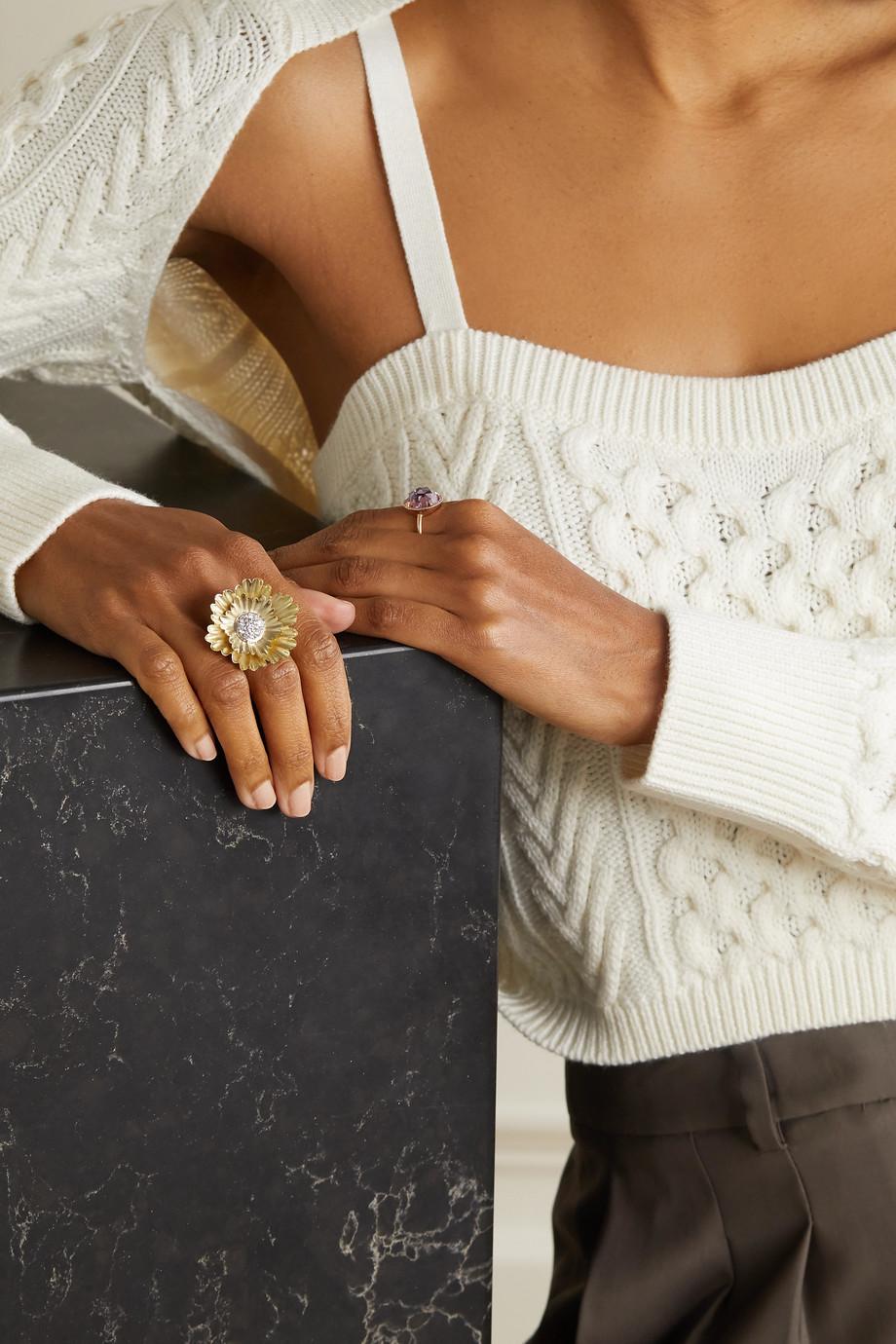 Irene Neuwirth Super Bloom 18-karat yellow and white gold diamond ring
