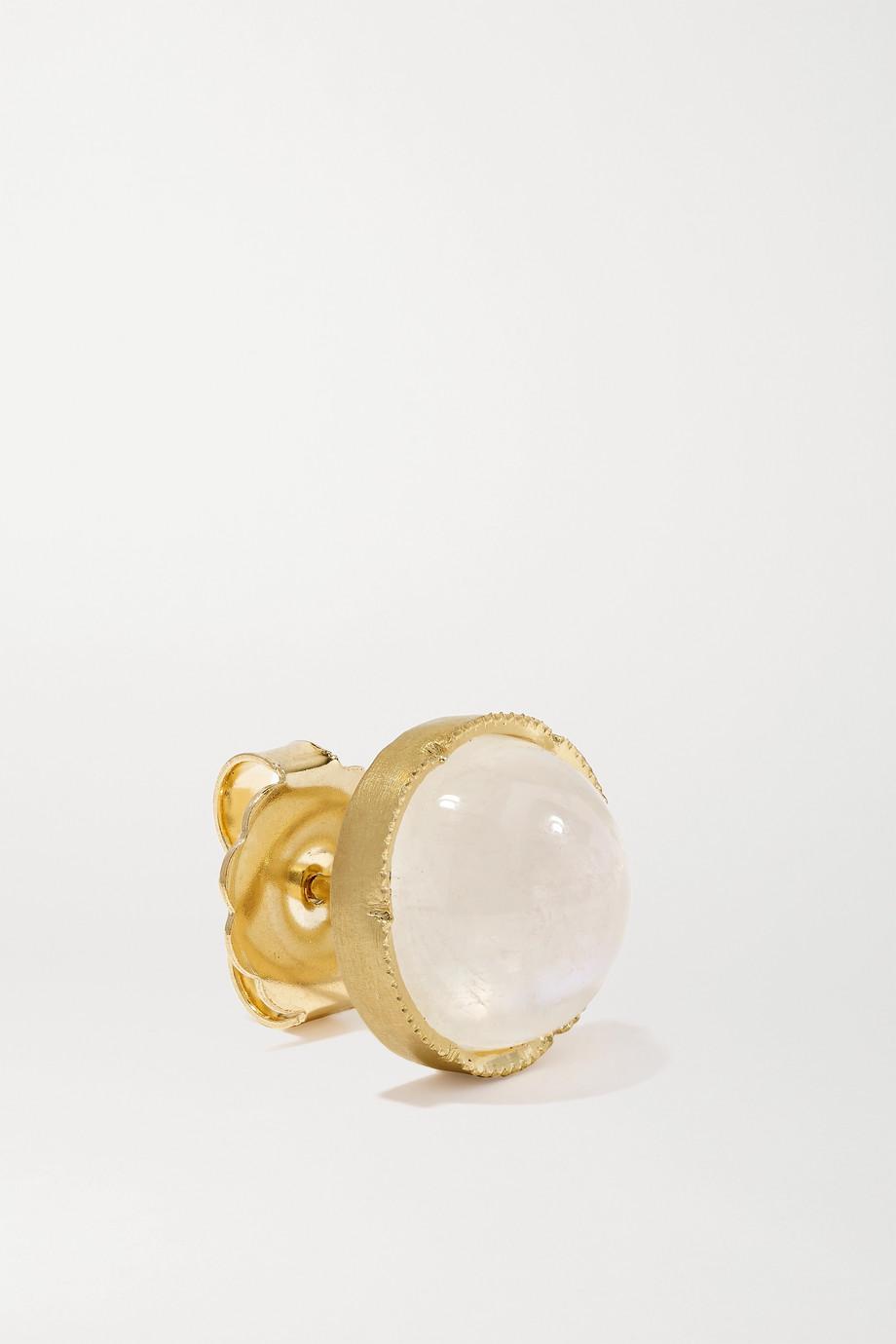 Irene Neuwirth Boucles d'oreilles en or 18 carats et pierres de lune Classic