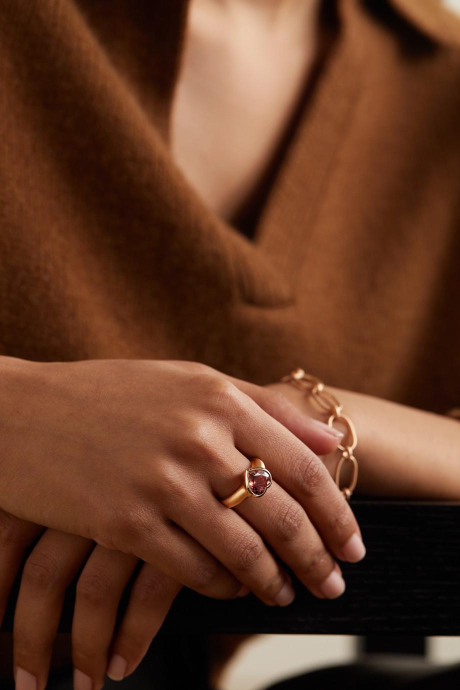 Irene Neuwirth Love 18-karat rose gold tourmaline ring