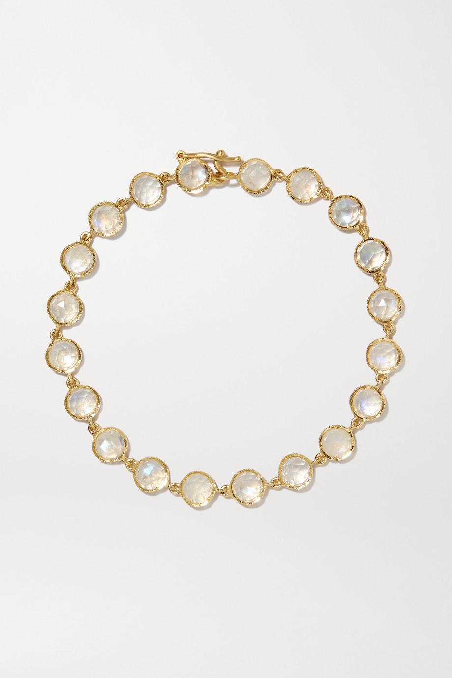 Irene Neuwirth Classic 18-karat gold moonstone bracelet