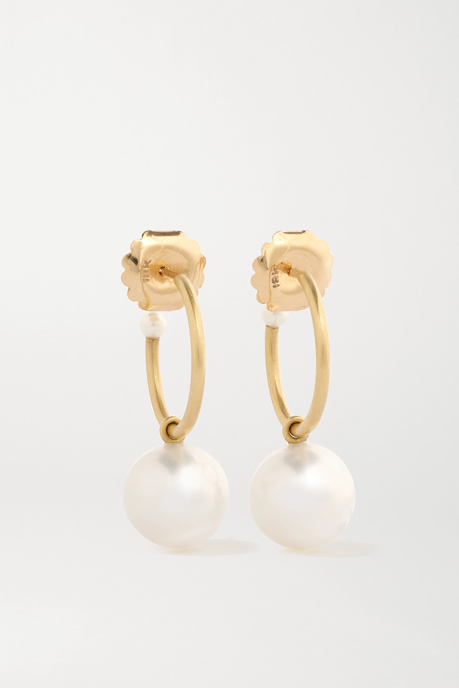 Irene Neuwirth Gumball Creolen aus 18 Karat Gold mit Perlen
