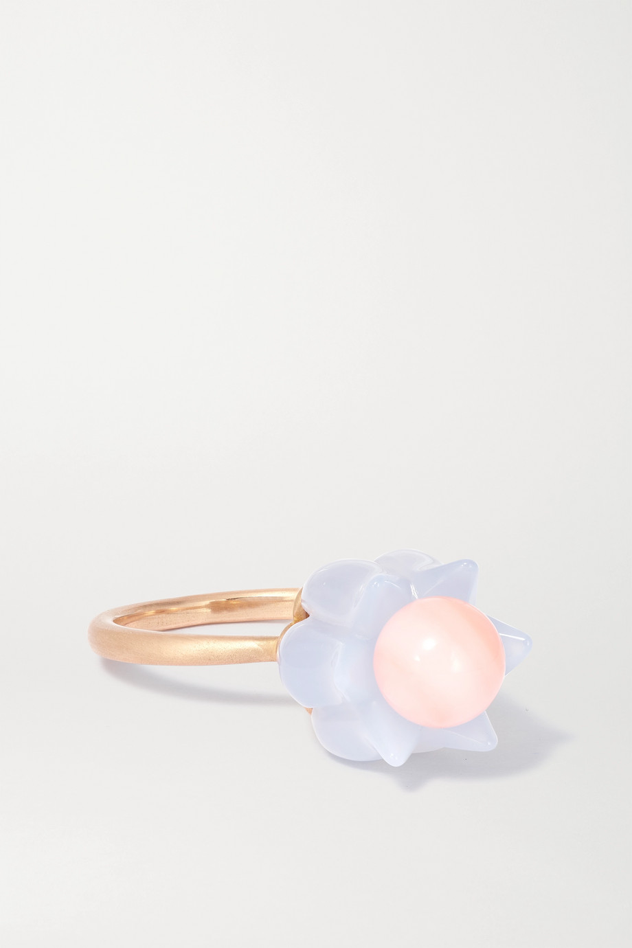 Irene Neuwirth Botanical 18-karat rose gold, chalcedony and opal ring