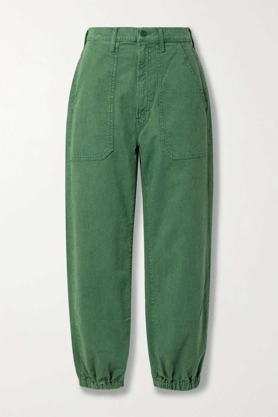 MOTHER The Wrapper high-rise tapered jeans