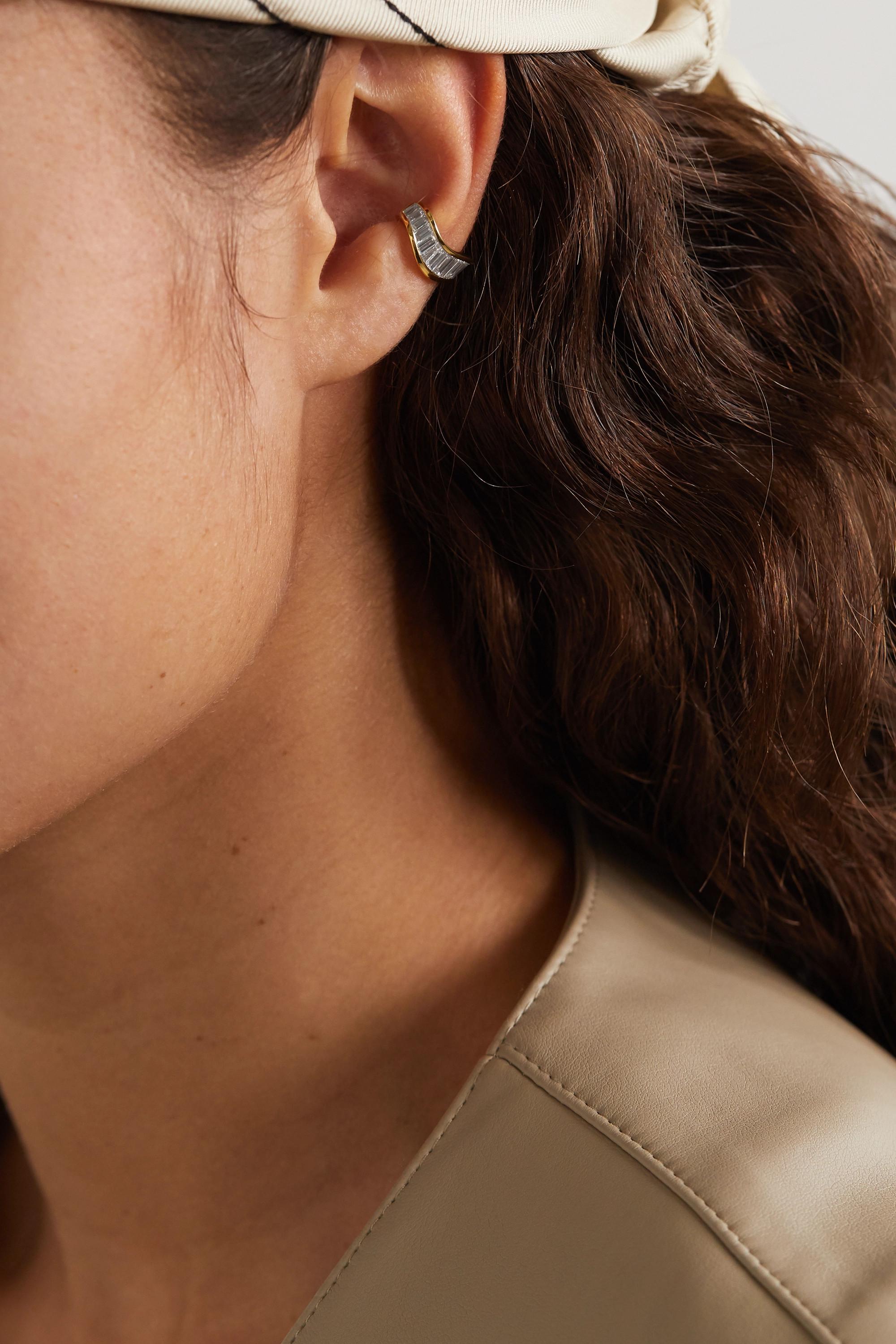 Anita Ko Wave 18-karat gold diamond ear cuff