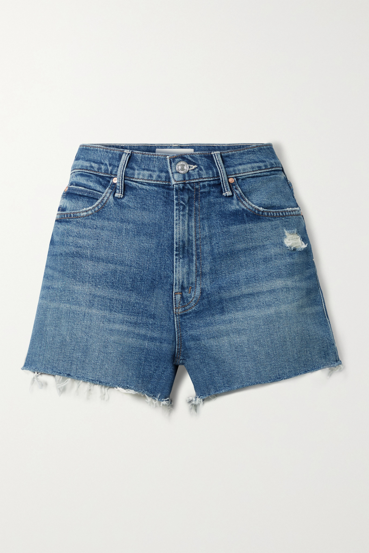 MOTHER - The Dutchie distressed denim shorts