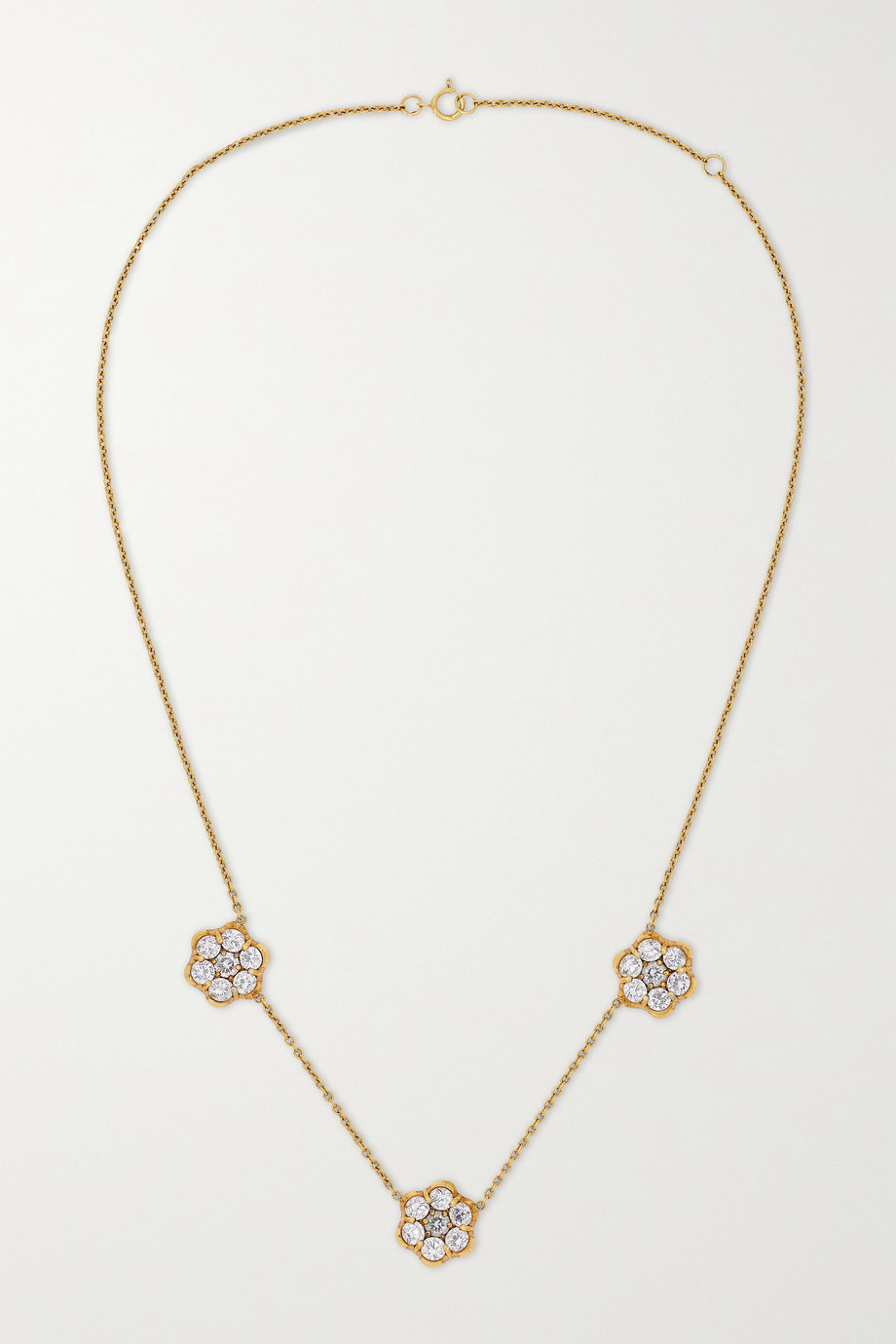 Bayco 18-karat gold diamond necklace
