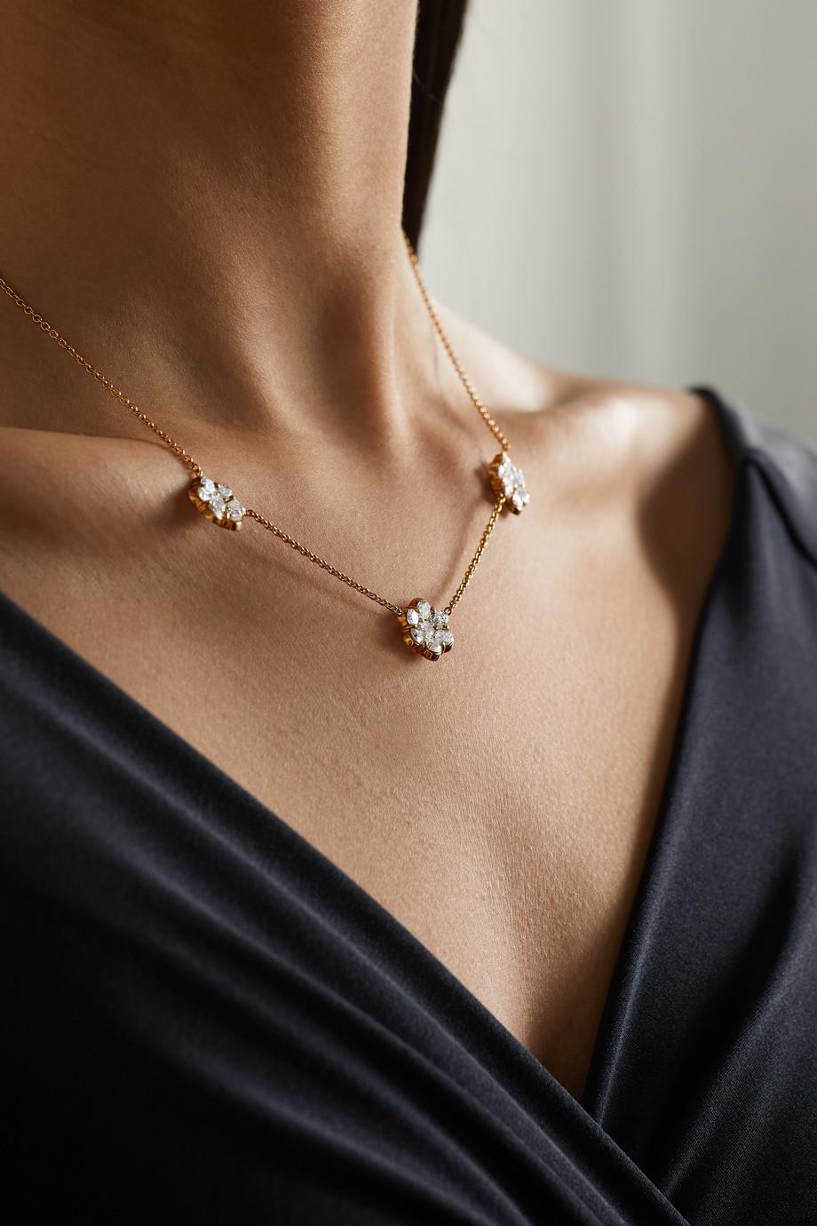 Bayco 18-karat gold diamond necklace