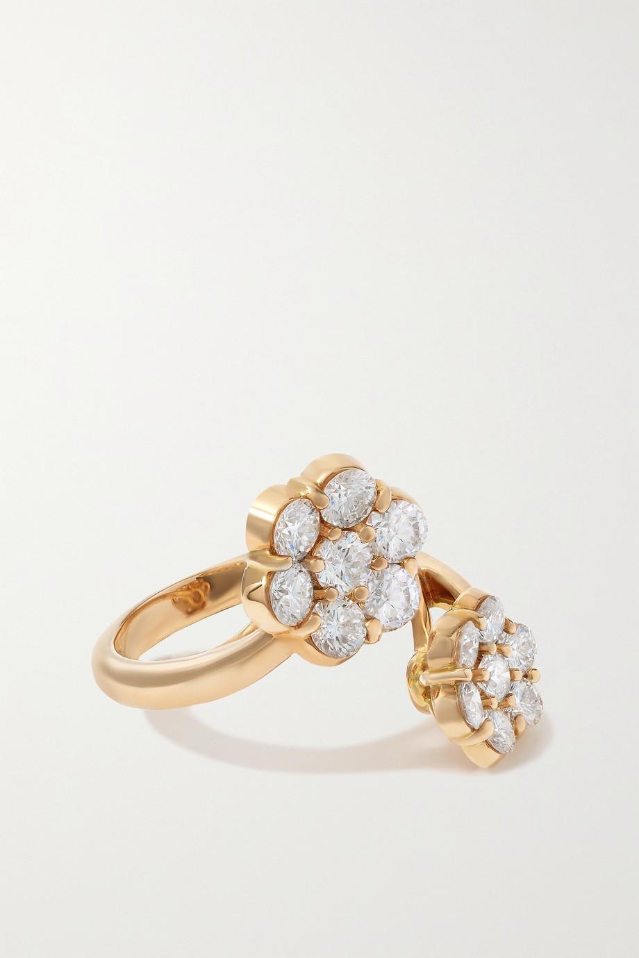 Bayco Bague en or rose 18 carats et diamants