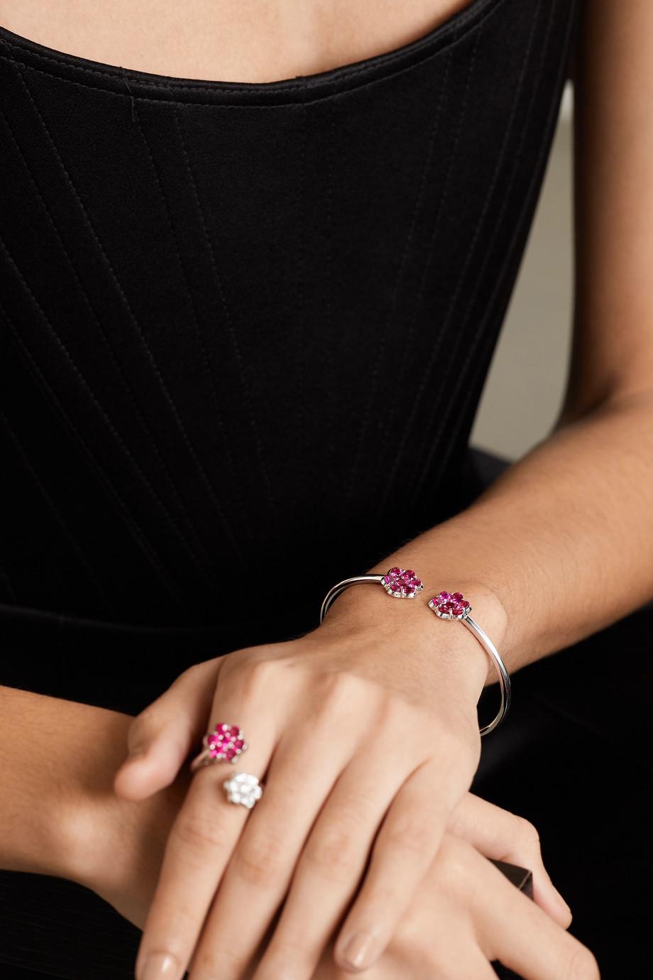 Bayco 18-karat white gold ruby bracelet