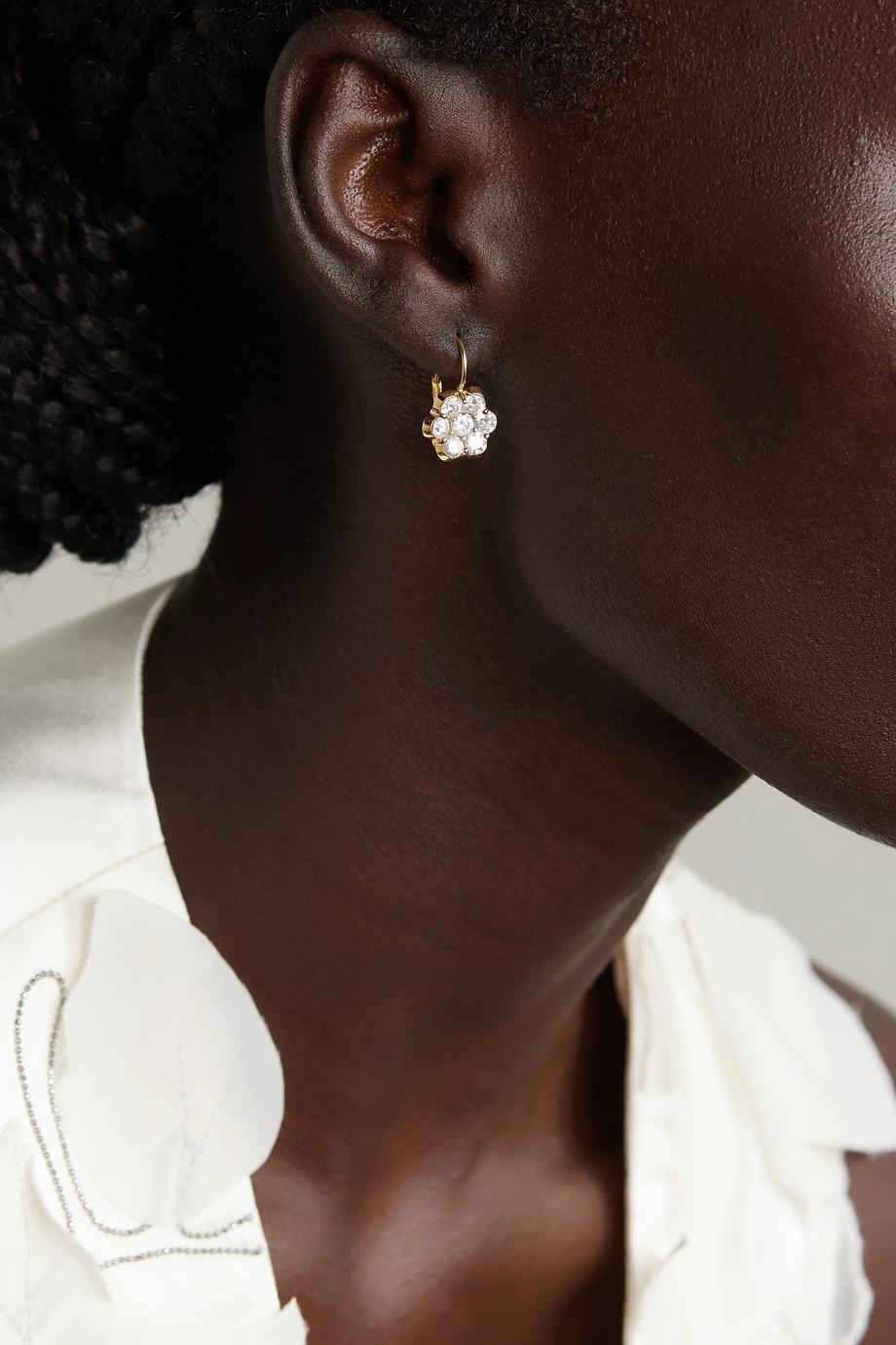 Bayco 18-karat gold diamond earrings