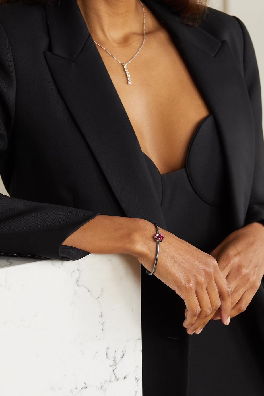 Bayco 18-karat blackened gold ruby cuff