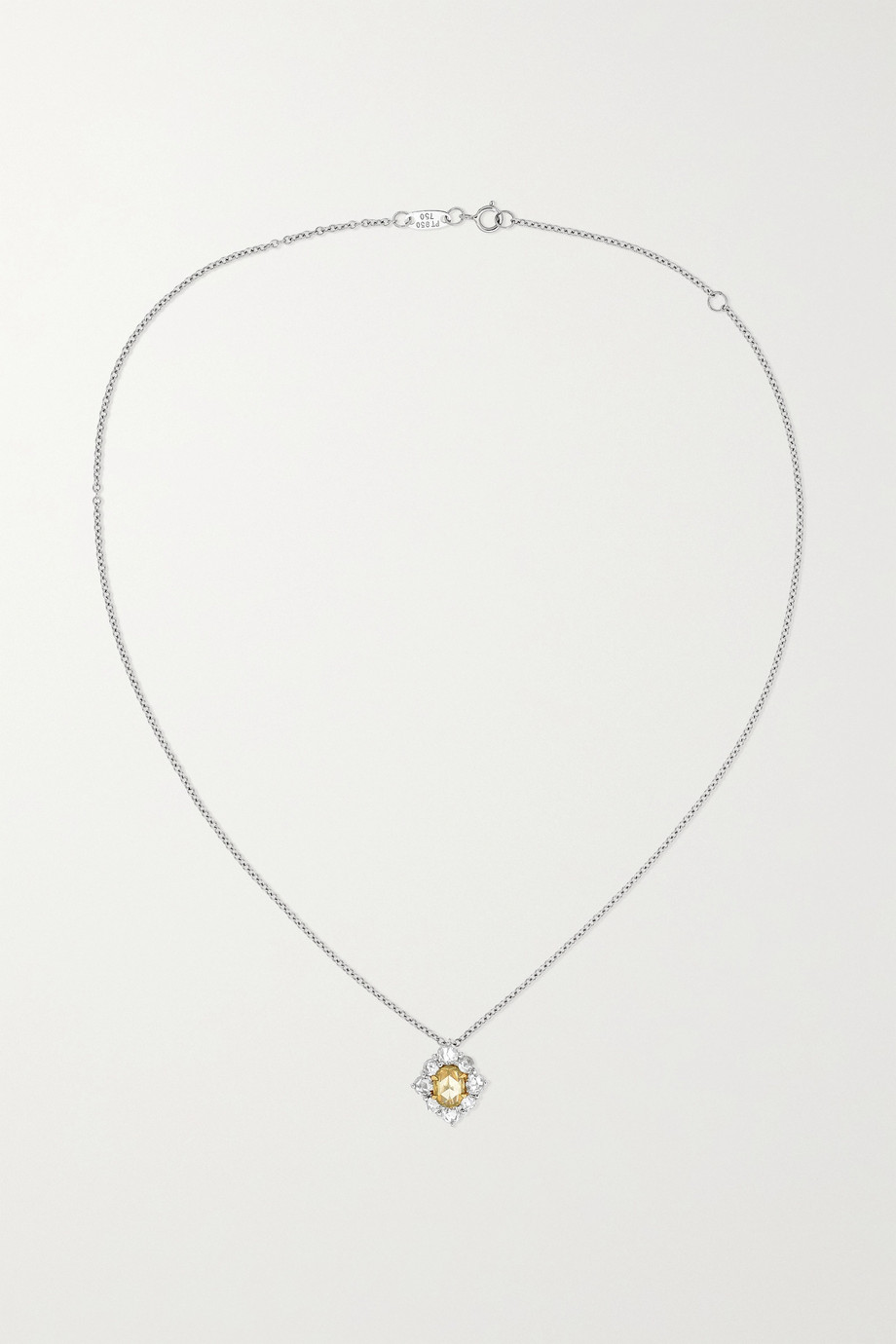 Bayco Platinum and 18-karat gold diamond necklace