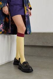 Dries Van Noten Two-tone 20 denier socks