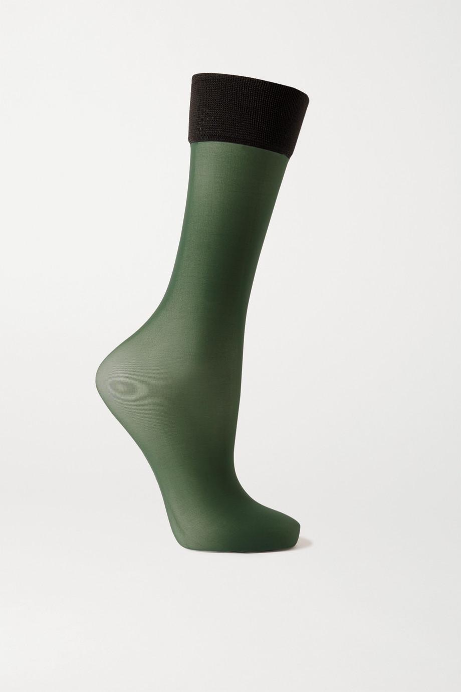 Dries Van Noten Two-tone 20 denier socks