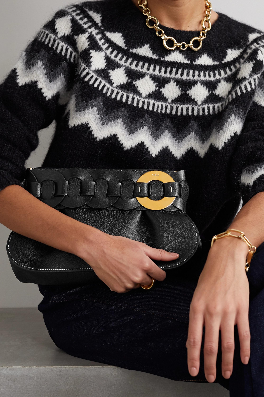 Chloé Darryl braided textured-leather clutch