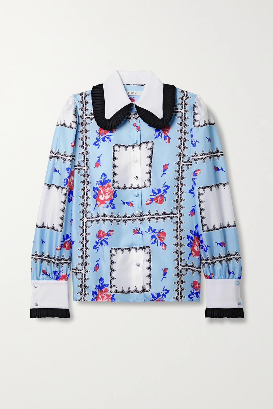 Rodarte Printed silk-twill blouse