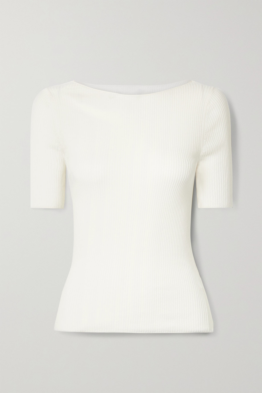 Vince Ribbed cotton T-shirt