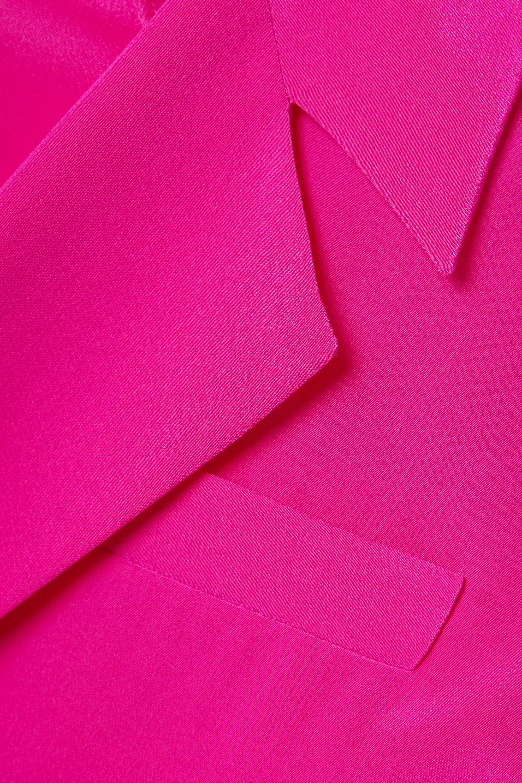 Diane von Furstenberg Stephanie cropped silk crepe de chine wrap top