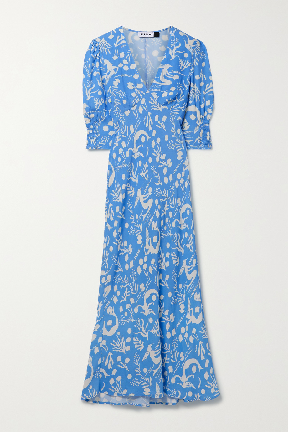 RIXO Zadie printed crepe midi dress