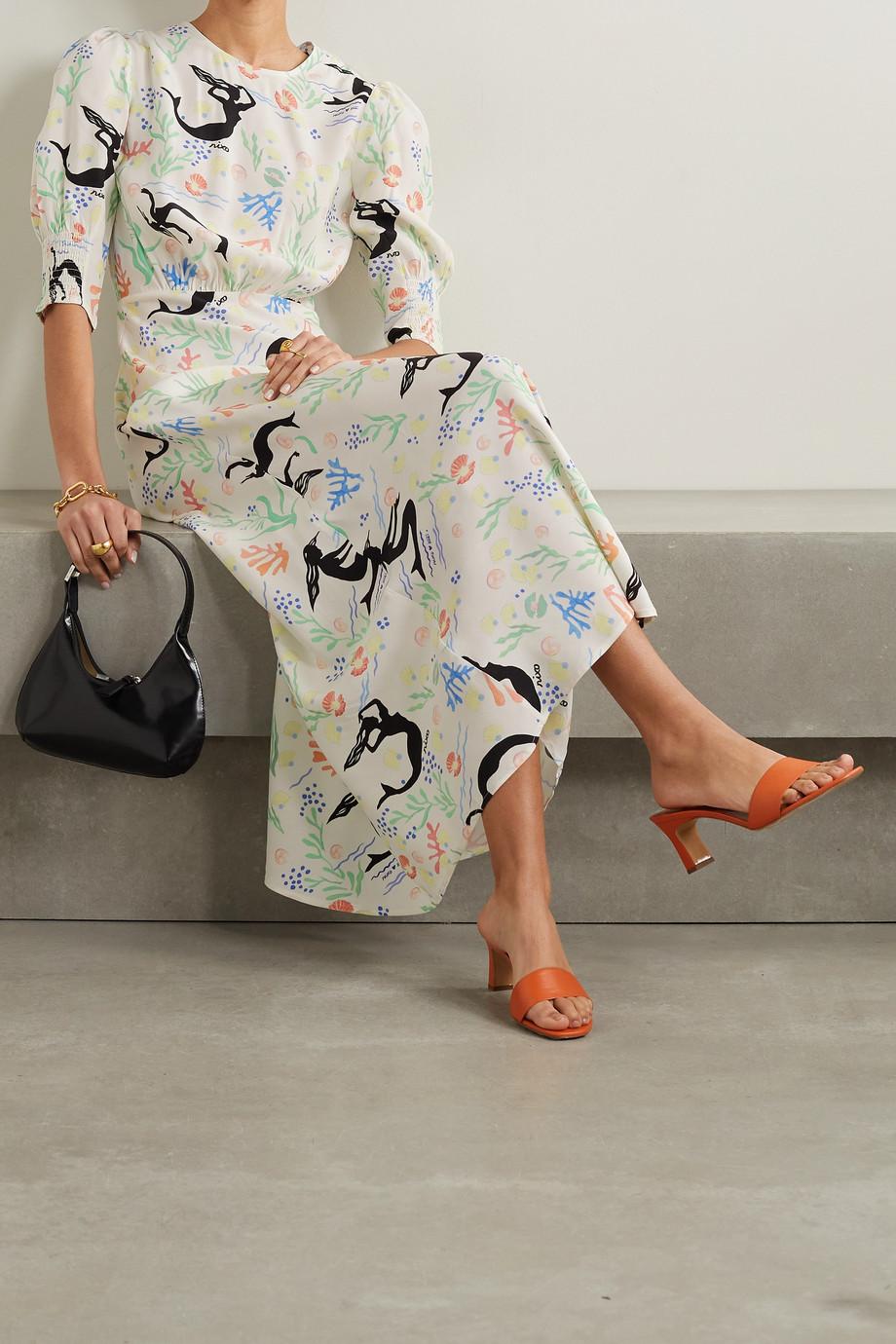 RIXO Lucile printed crepe maxi dress