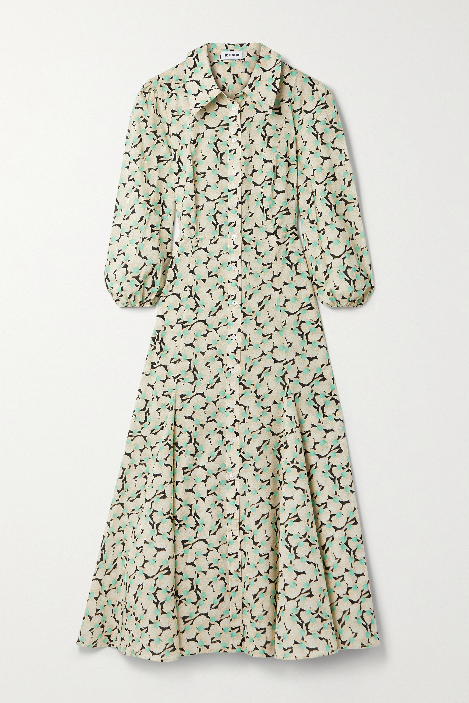 RIXO Ingrid printed cotton midi shirt dress