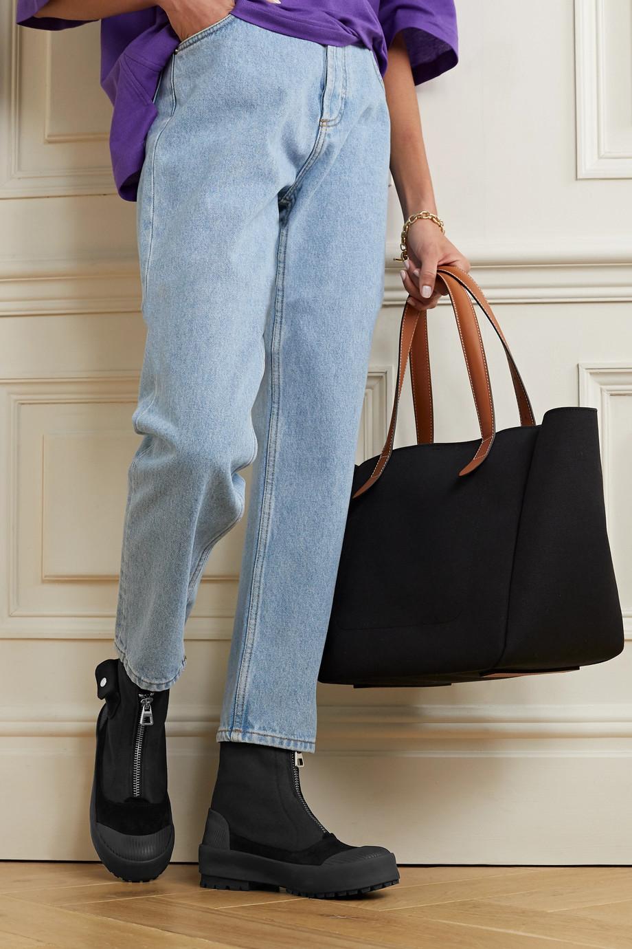 JW Anderson Stiefel aus Twill mit Besätzen aus Veloursleder und Gummi