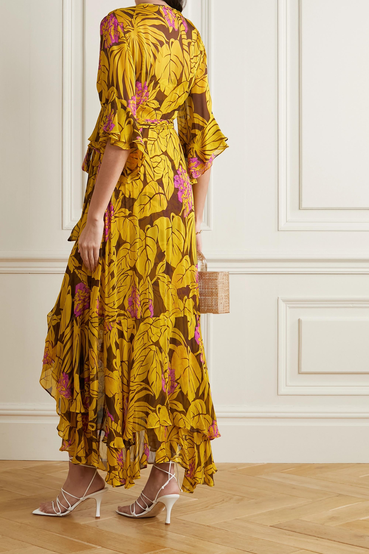 Diane von Furstenberg Jean Wickelkleid aus bedrucktem Krepon mit Volants