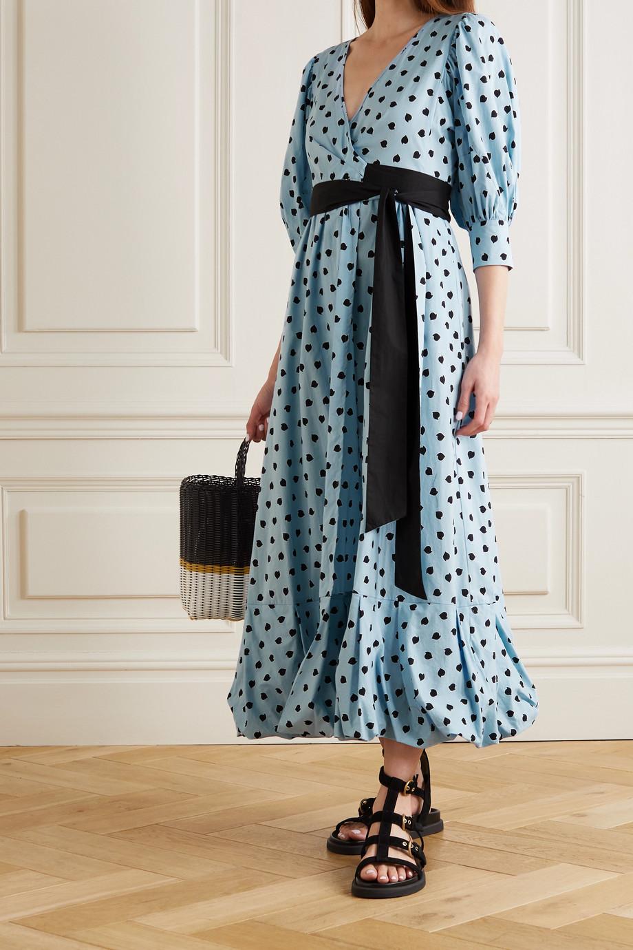 Diane von Furstenberg Robe longue portefeuille en coton imprimé Ulrica