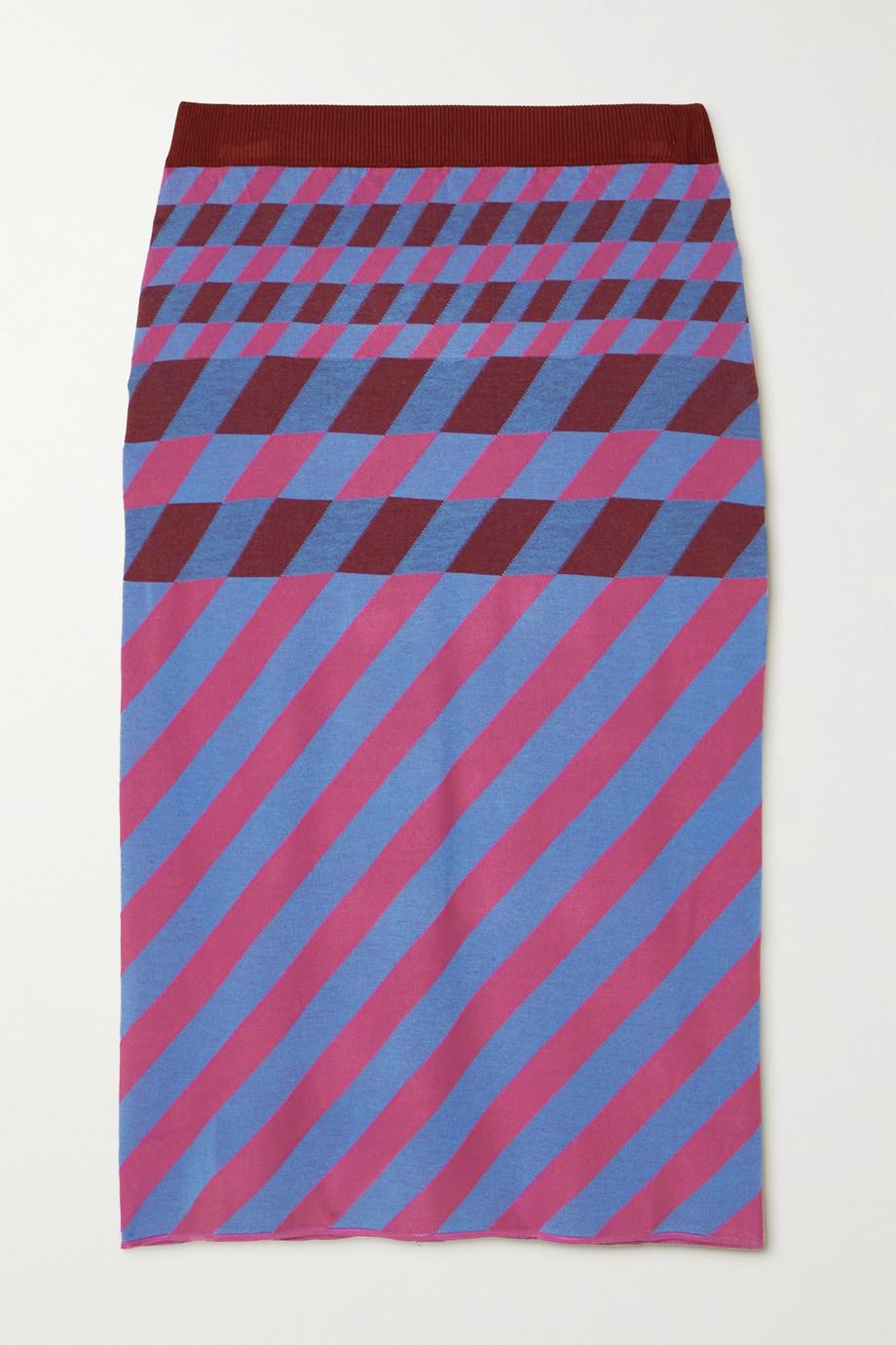 Diane von Furstenberg Laris printed stretch-knit midi skirt