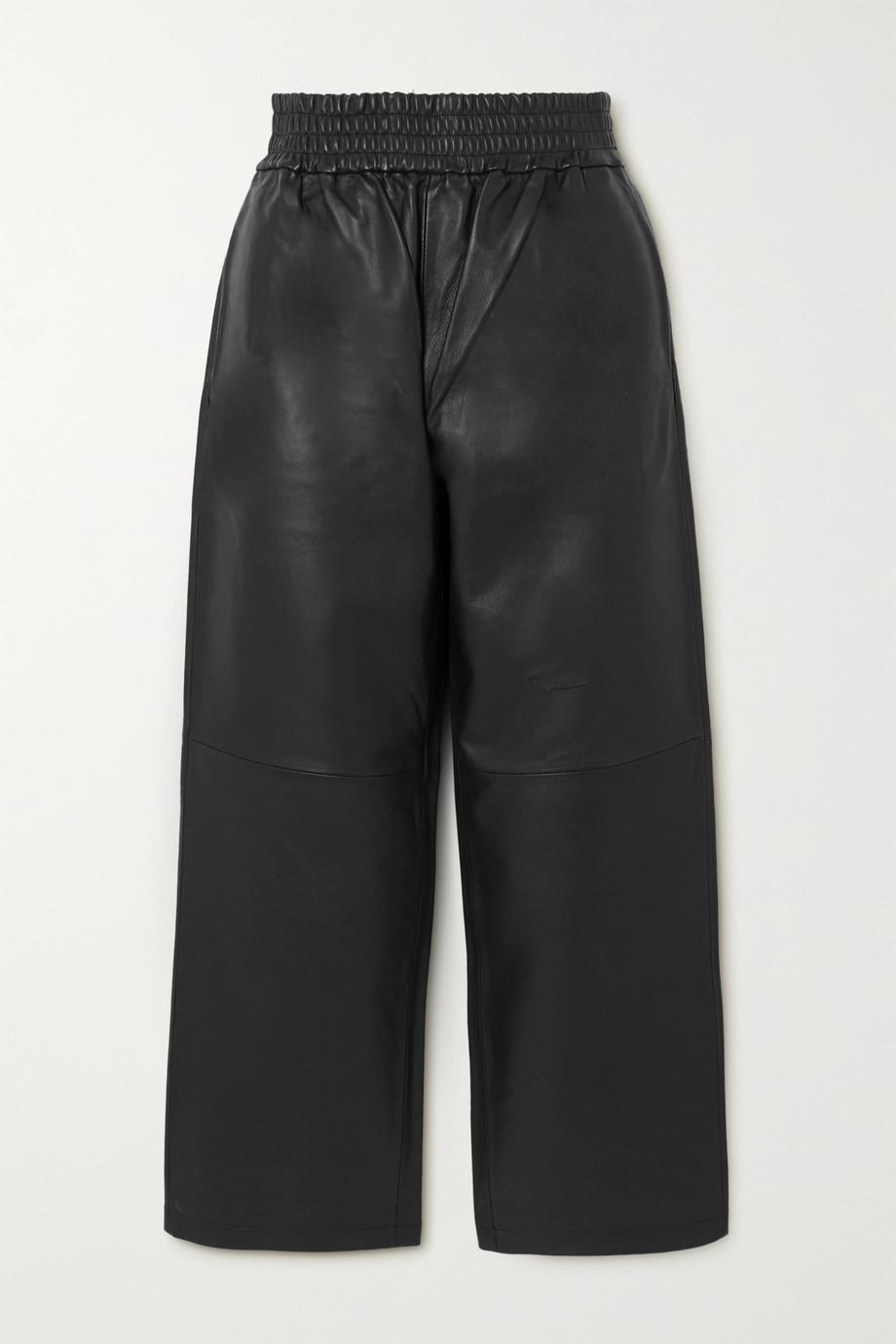 By Malene Birger Mizonia leather wide-leg pants