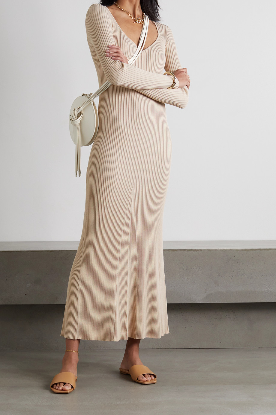 By Malene Birger Frerea ribbed-knit maxi dress