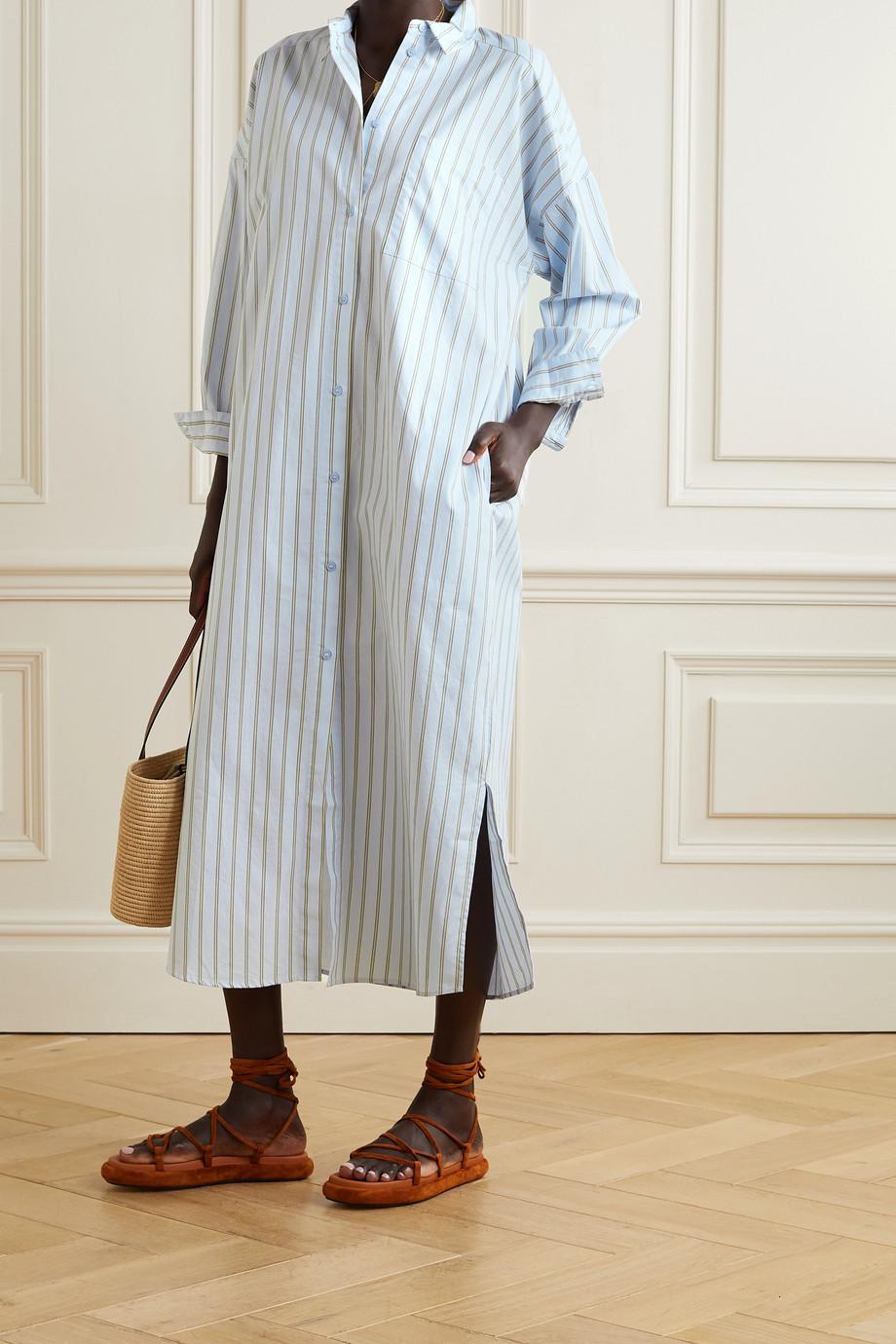 By Malene Birger Eina oversized striped organic cotton-poplin maxi dress