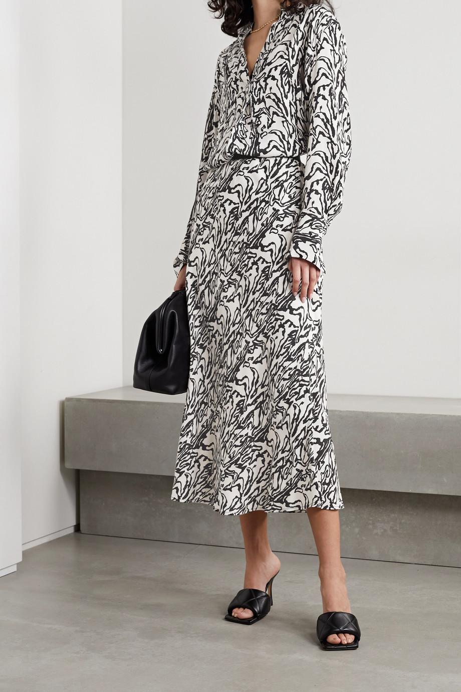 By Malene Birger Biellas printed twill midi skirt