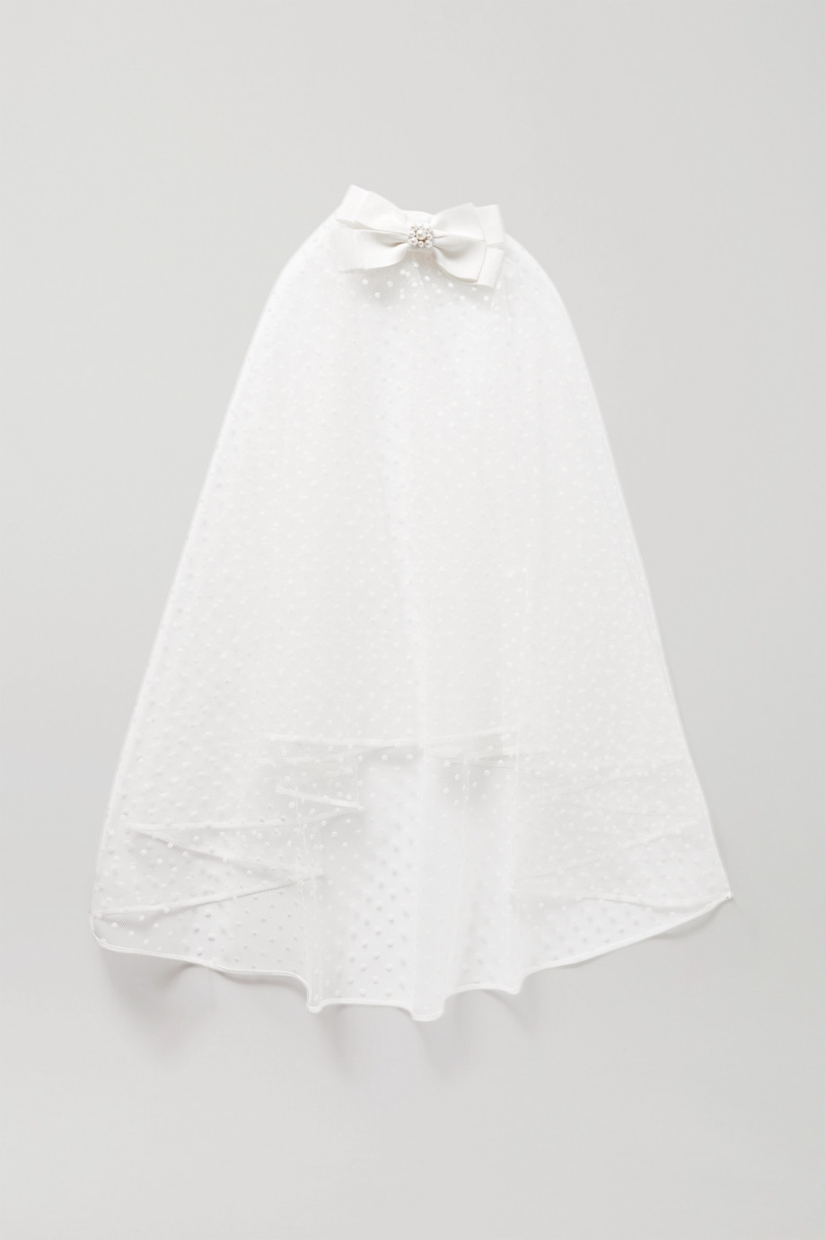 Erdem Embellished point d'esprit tulle veil