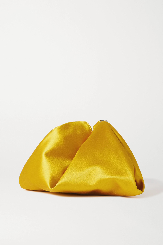 Jimmy Choo Callie tasseled satin clutch