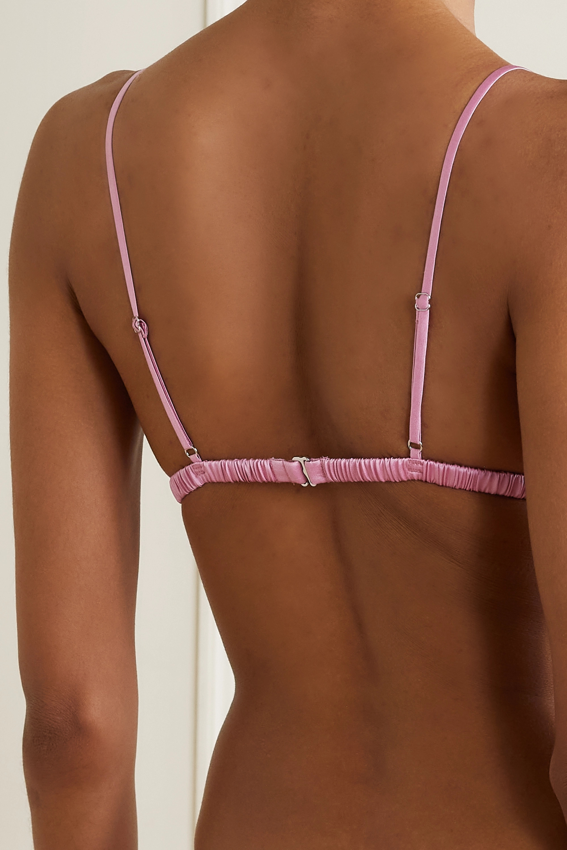 Fleur du Mal Luxe stretch-silk satin soft-cup triangle bra