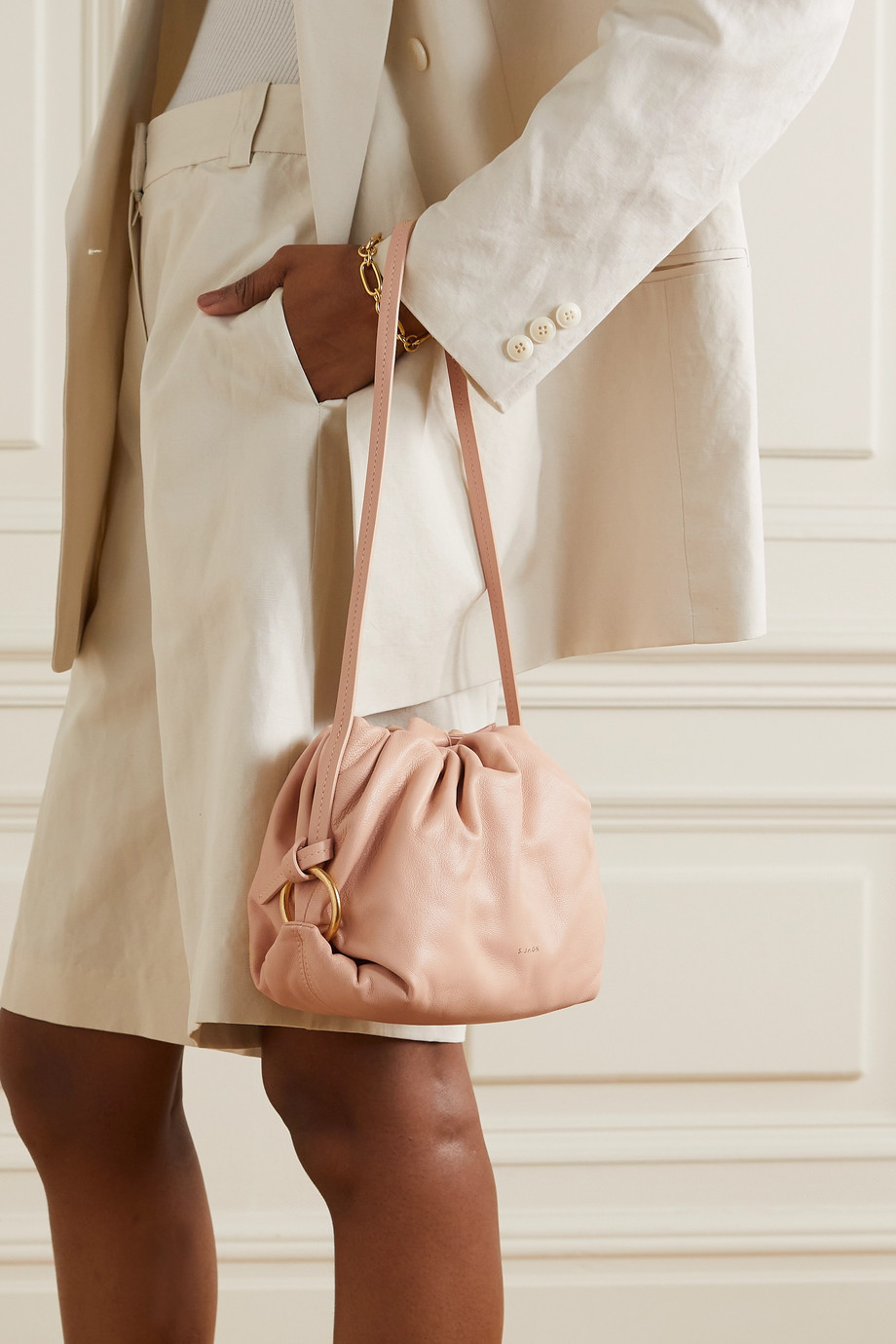 S.Joon Baby Bao gathered leather shoulder bag
