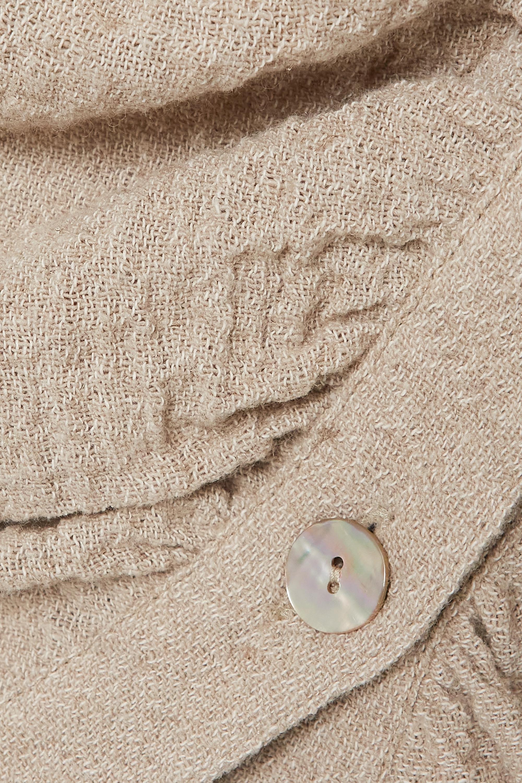 Nanushka Maeko ruched linen and cotton-blend shirt