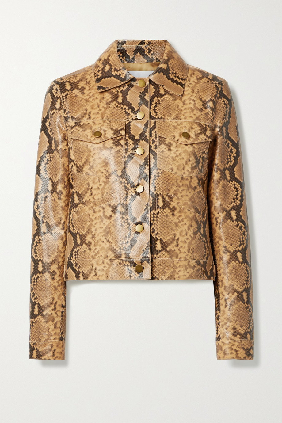Michael Kors Collection Snake-effect leather jacket