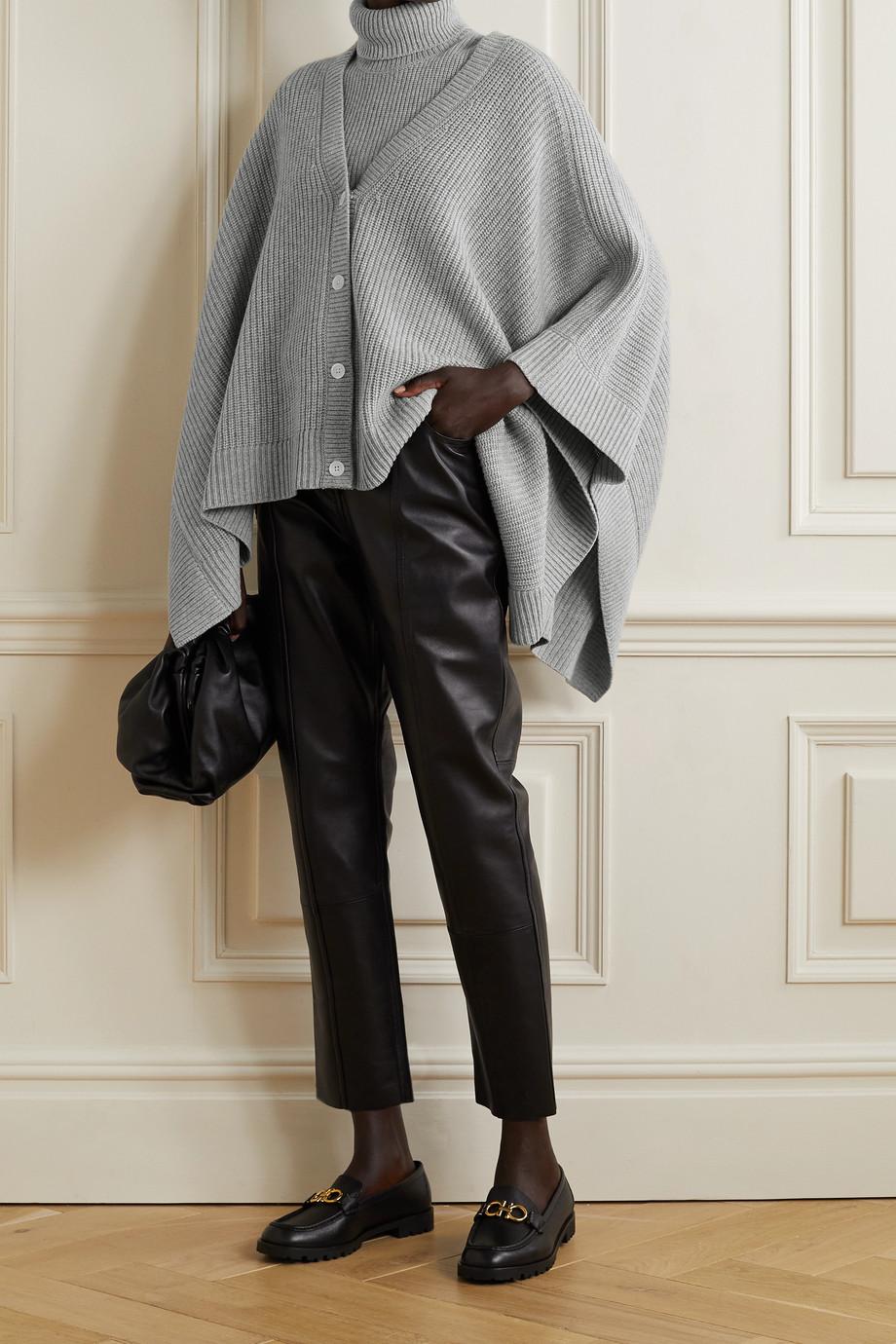 Michael Kors Collection Ribbed mélange cashmere cardigan