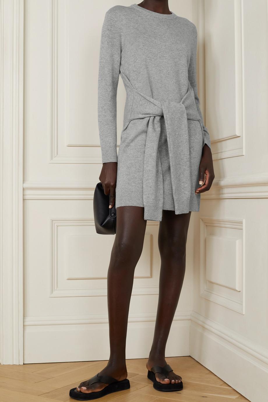 Michael Kors Collection Belted mélange cashmere mini dress